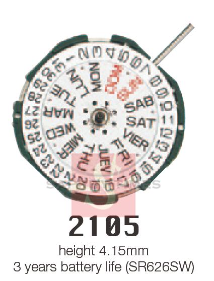 MIYOTA 2105 цана US$4.6/шт
