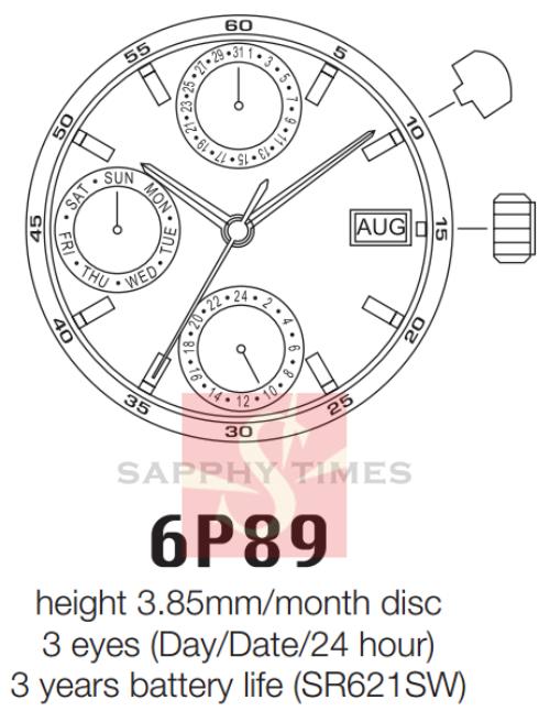 Miyota 6P8B मूल्य